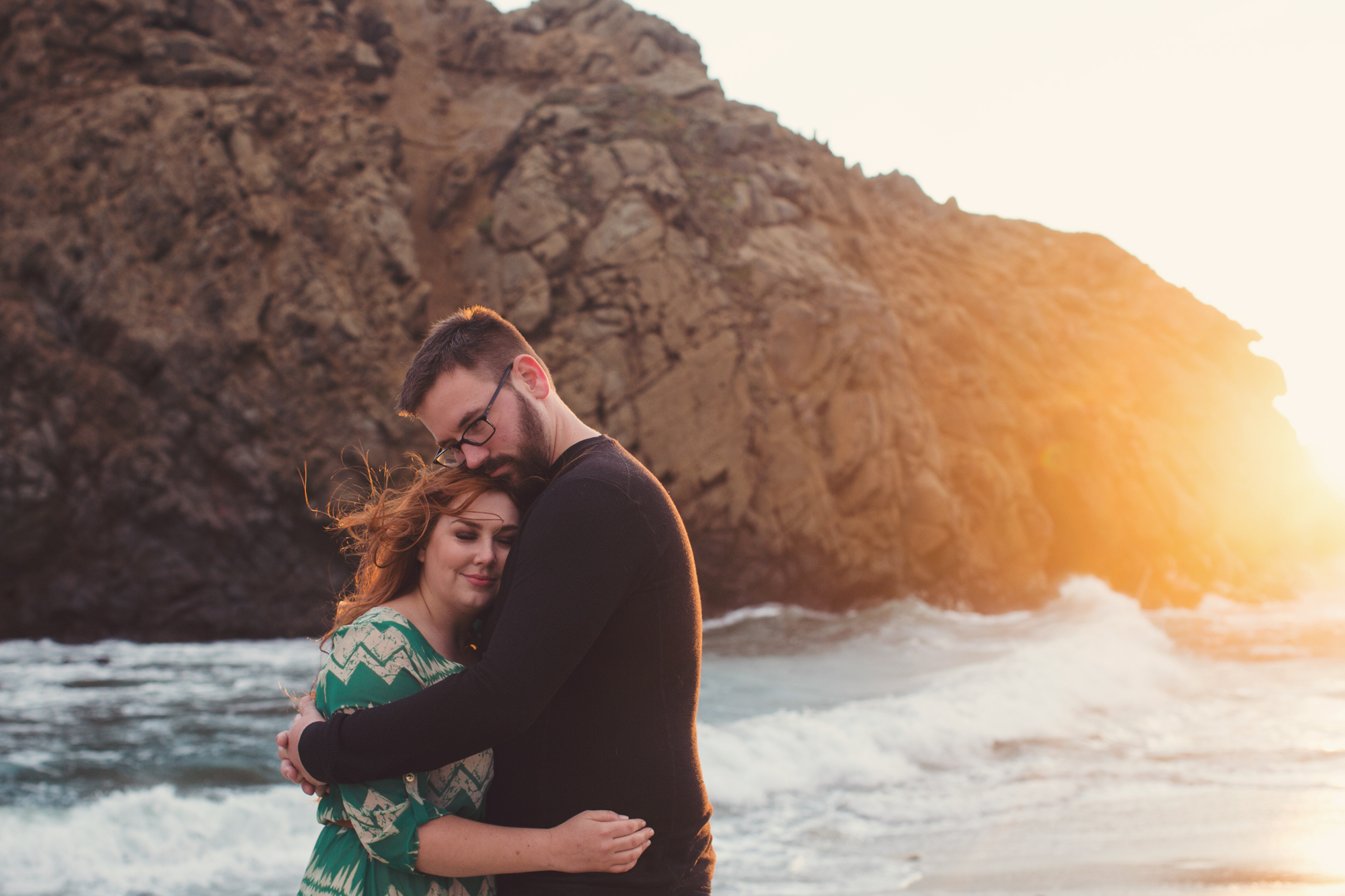 Engagement photos in Big Sur @Anne-Claire Brun 0019