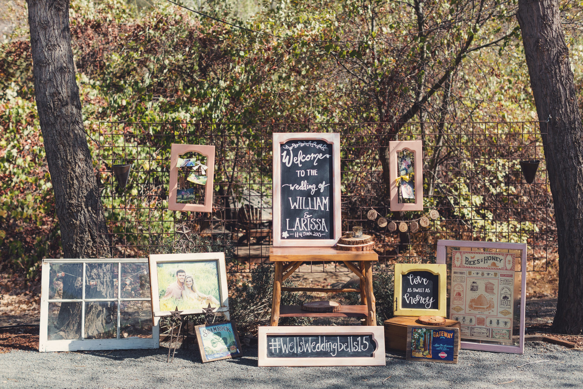 Rustic wedding in California by Anne-Claire Brun