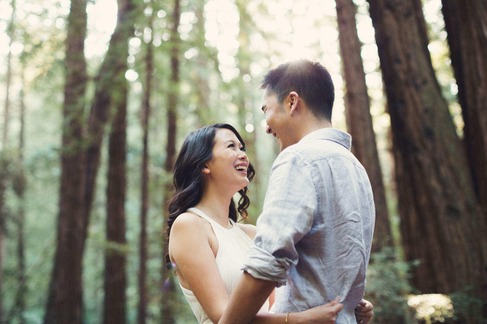 Engagement photos in Muir Woods @Anne-Claire Brun 001