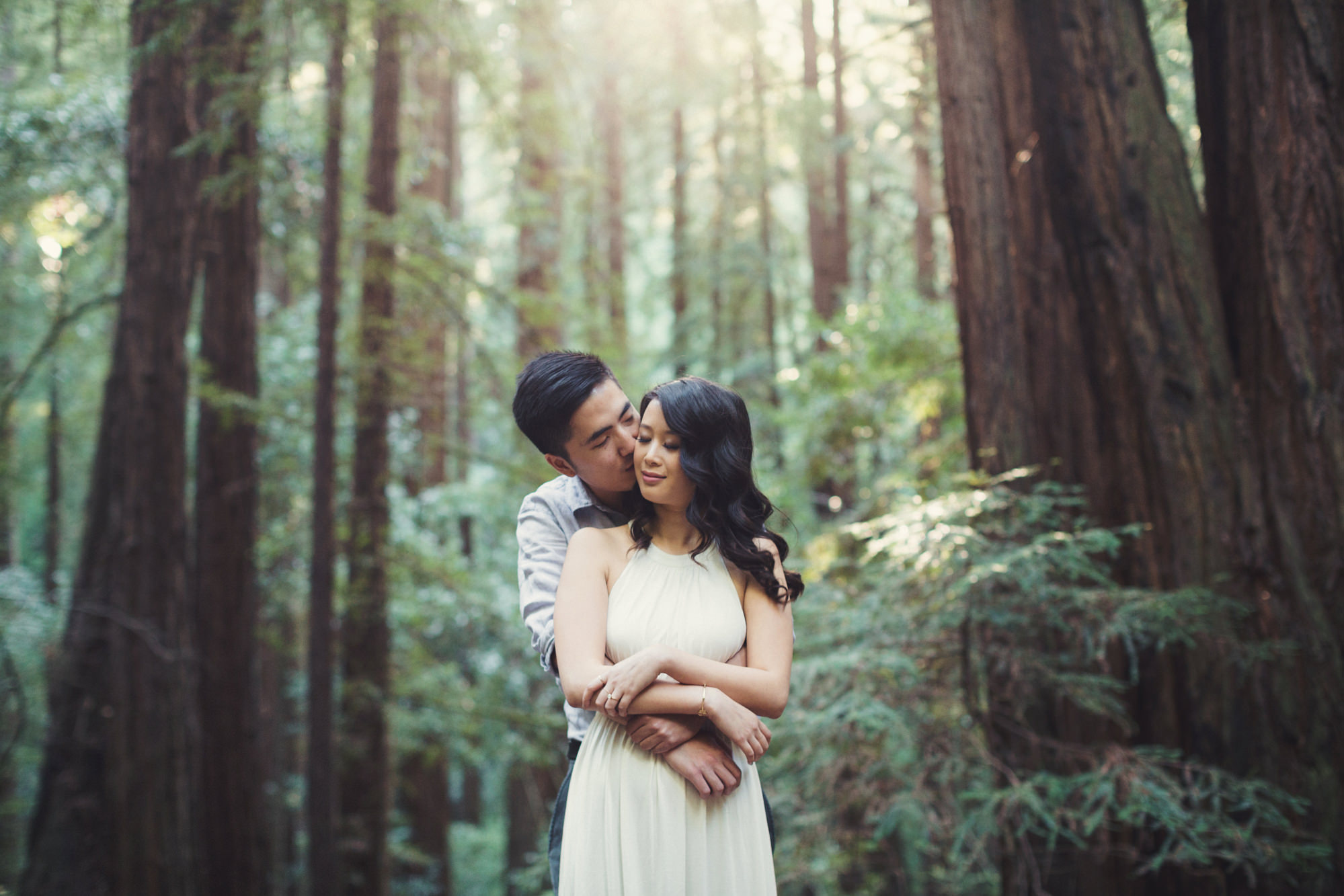 Engagement photos in Muir Woods @Anne-Claire Brun 004