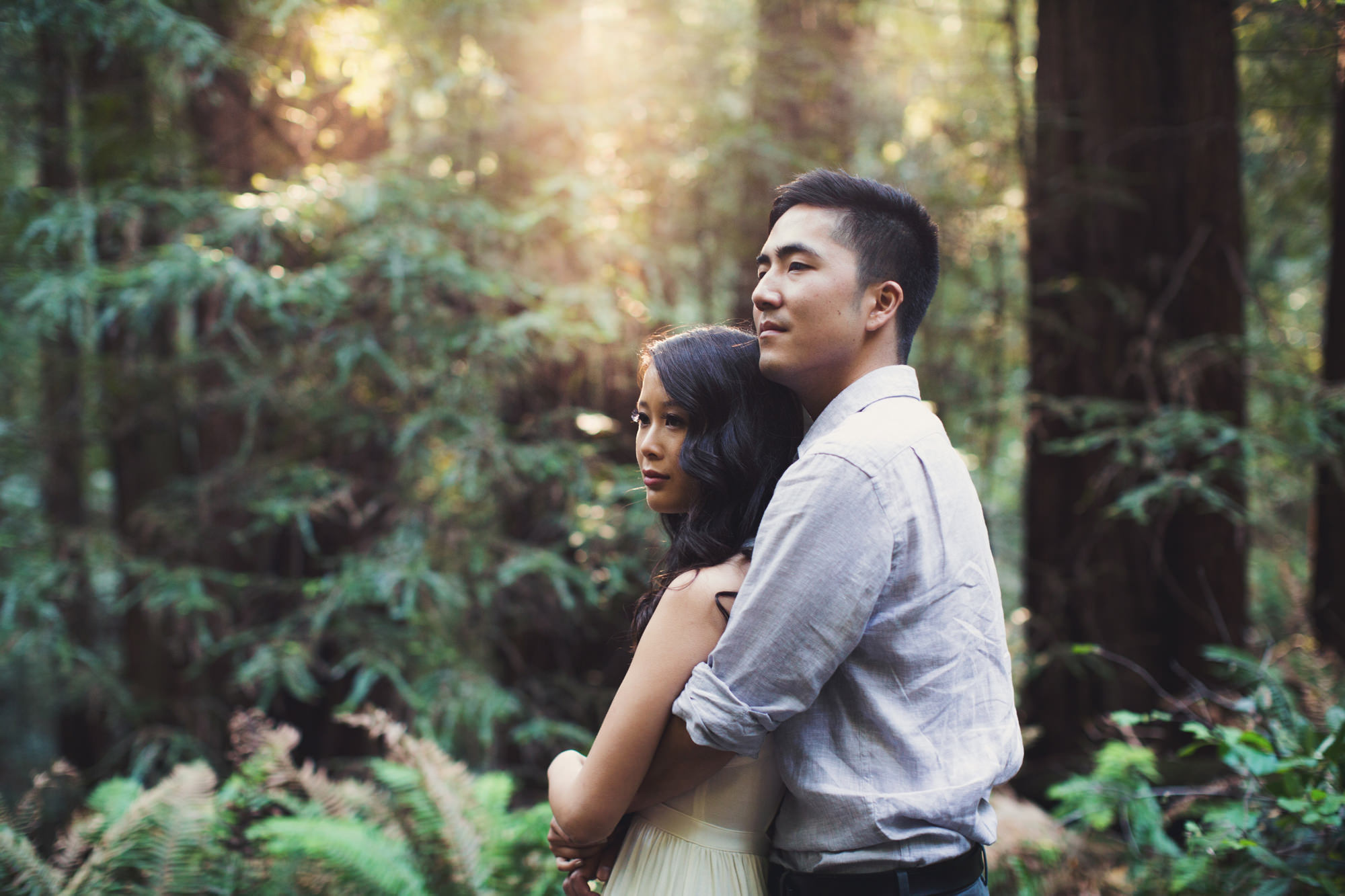 Engagement photos in Muir Woods @Anne-Claire Brun 008
