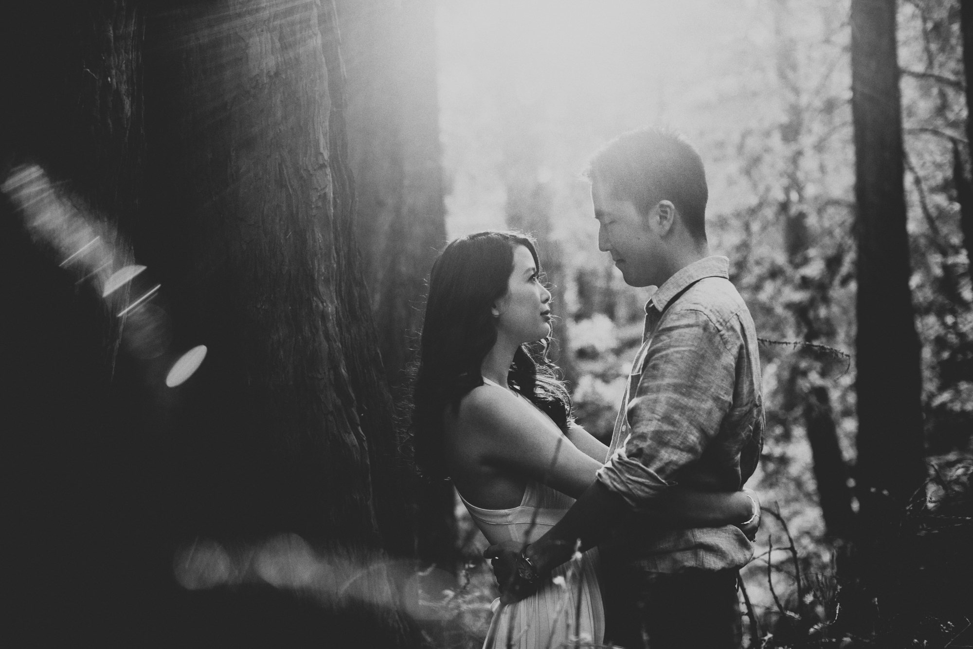 Engagement photos in Muir Woods @Anne-Claire Brun 018
