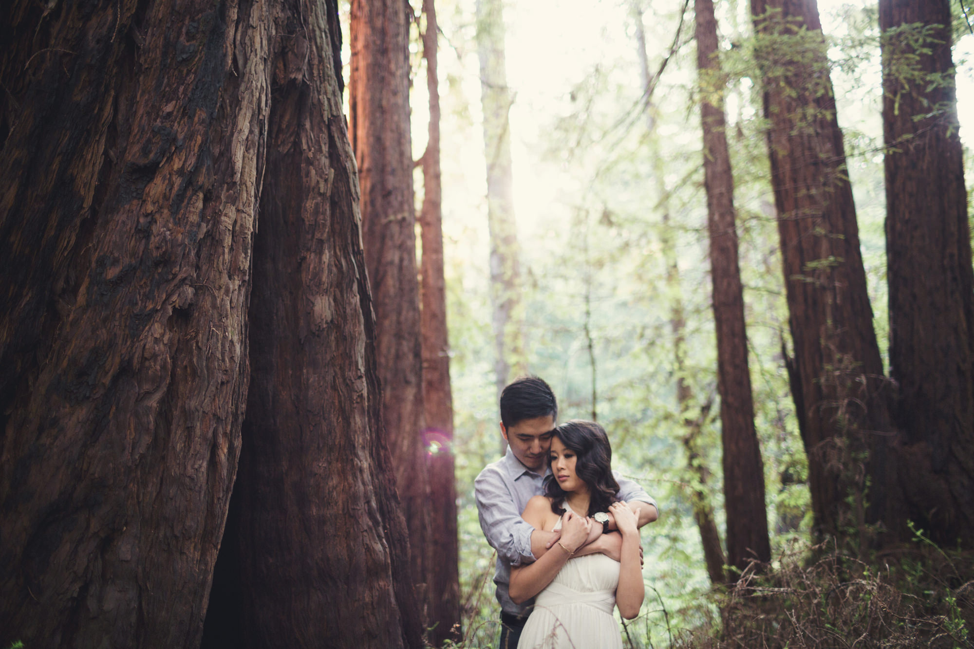 Engagement photos in Muir Woods @Anne-Claire Brun 024