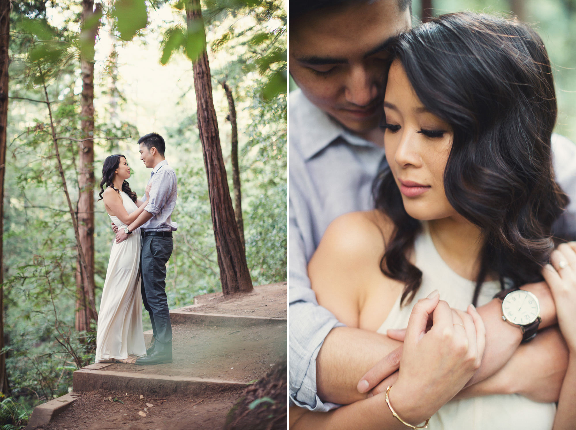 Engagement photos in Muir Woods @Anne-Claire Brun 026