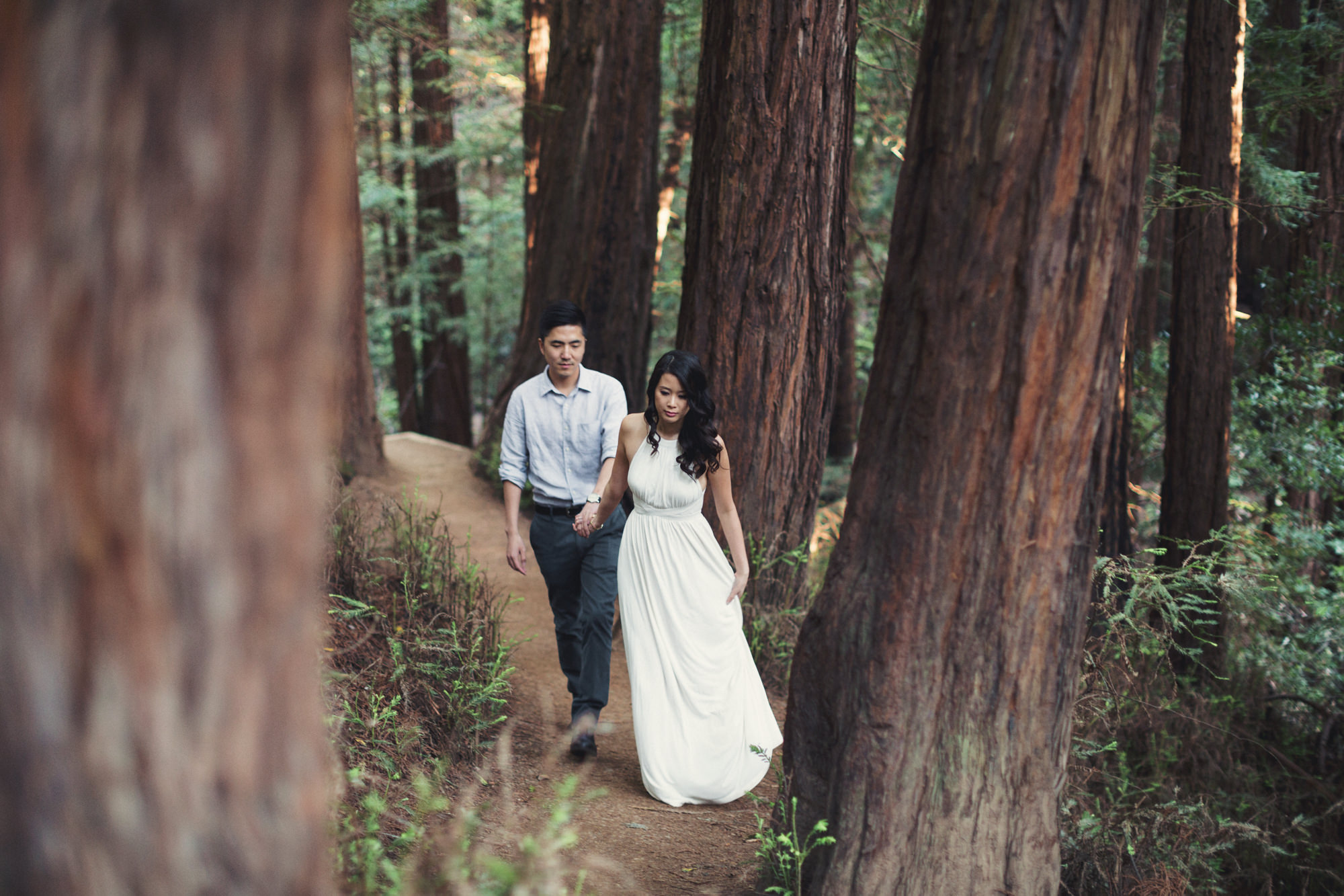 Engagement photos in Muir Woods @Anne-Claire Brun 037