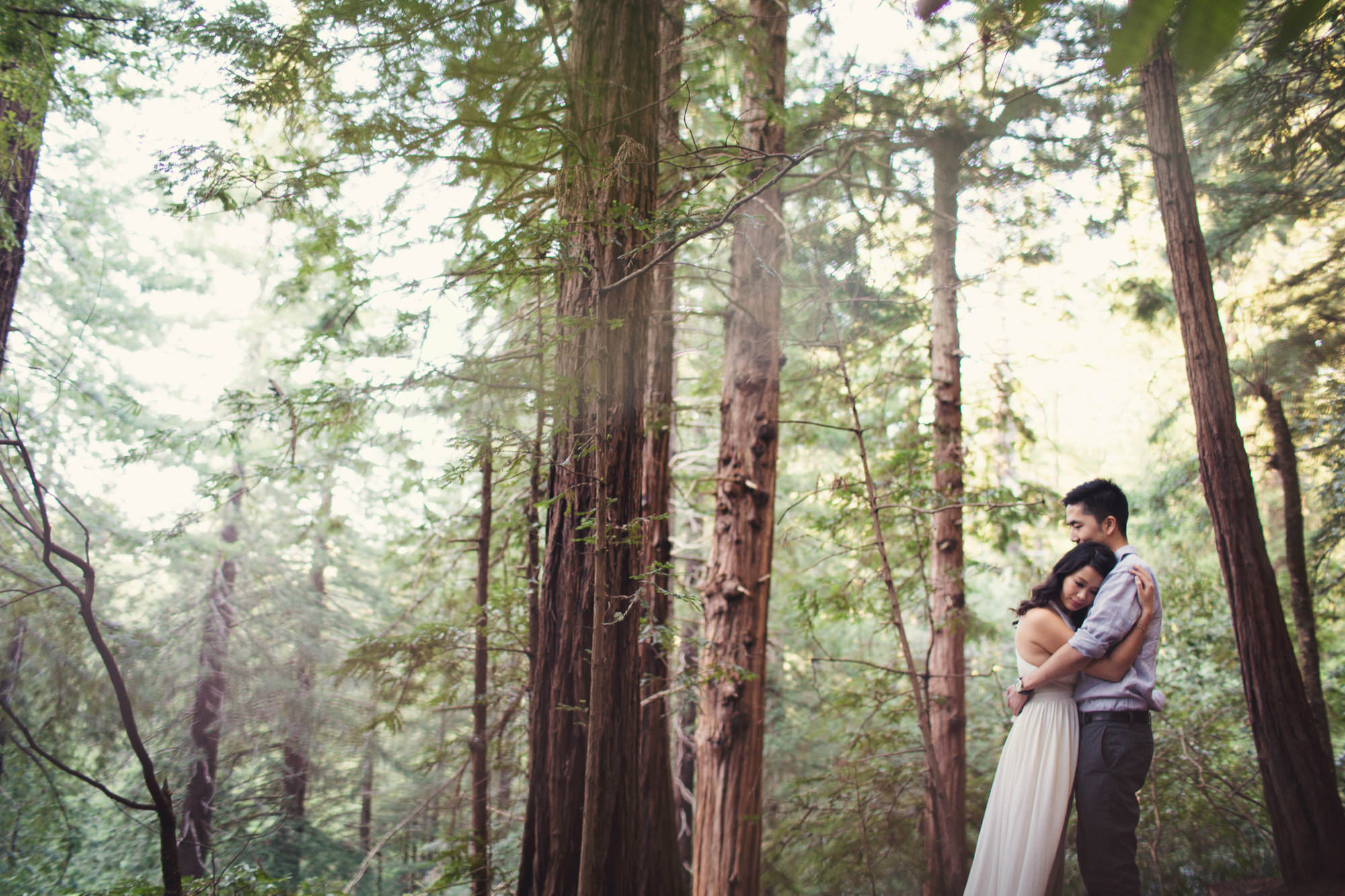 Engagement photos in Muir Woods @Anne-Claire Brun 042