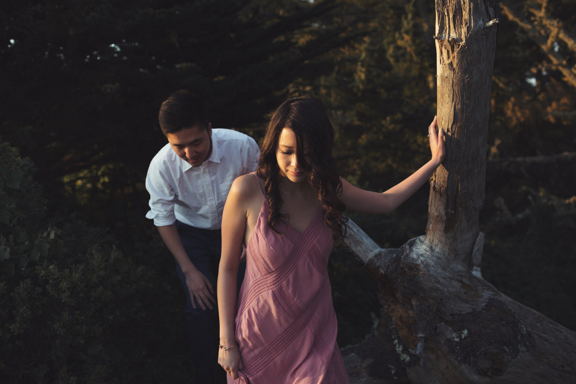 Engagement photos in Muir Woods @Anne-Claire Brun 060
