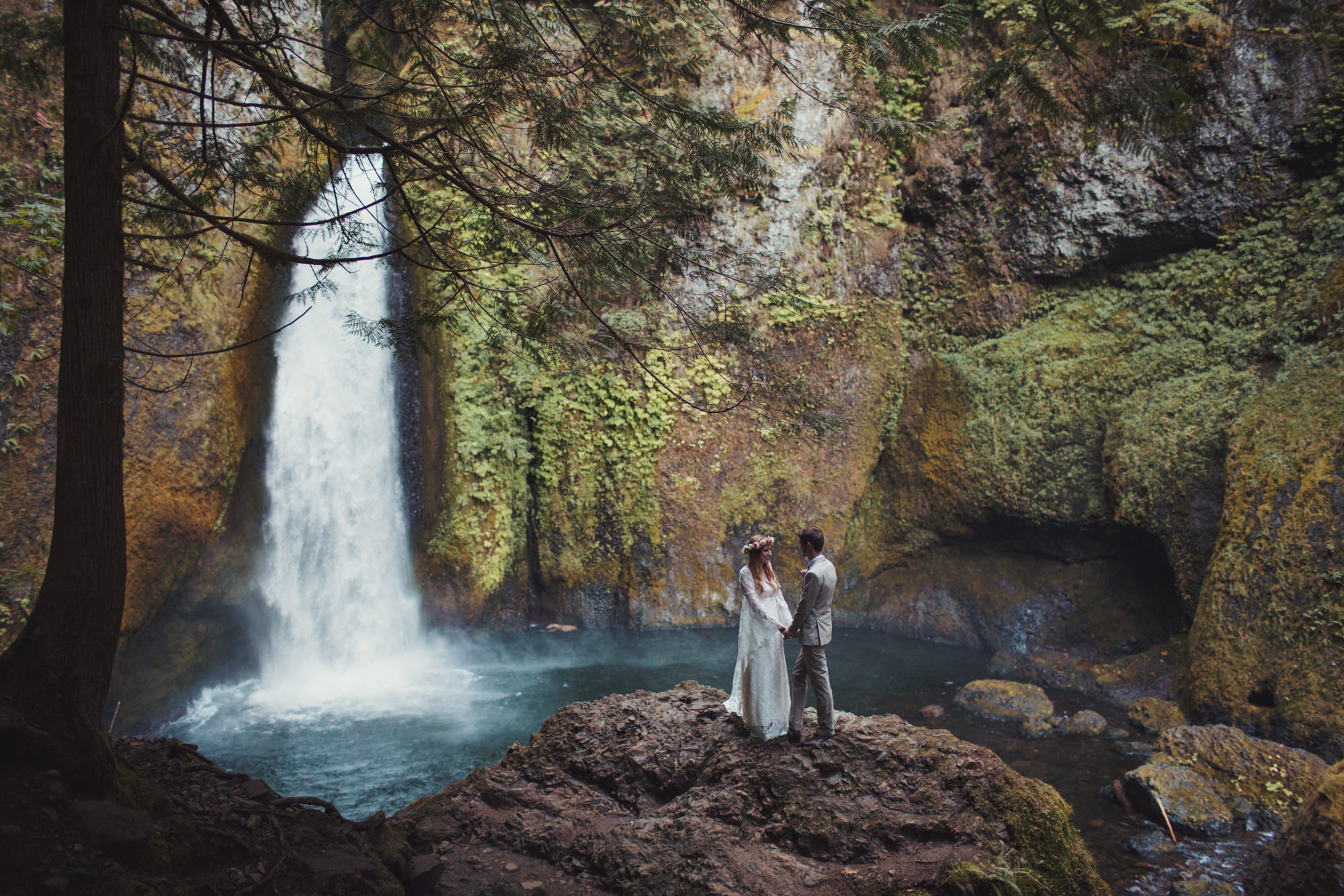 Wahclella Falls Intimate Wedding