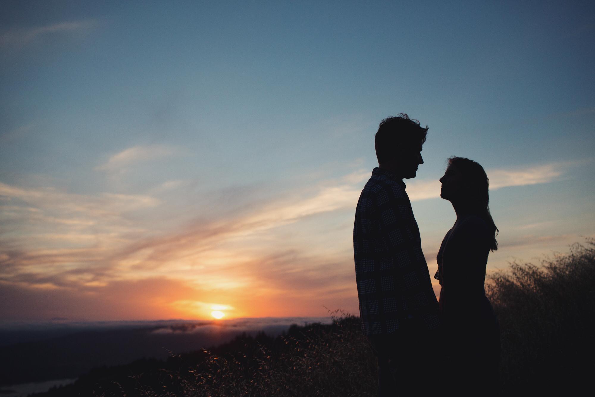 Sunset Mt Tamalpais