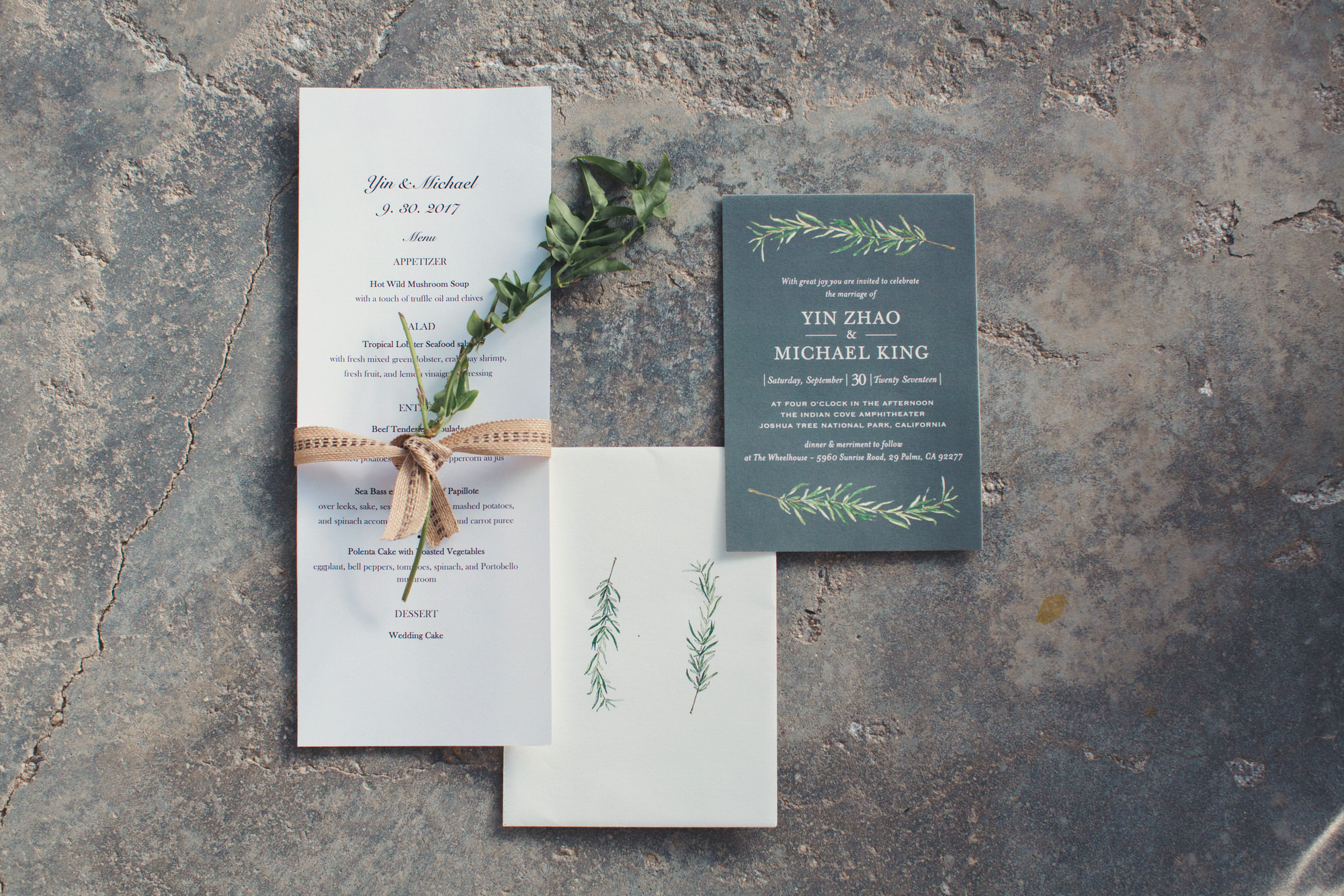invitation wedding joshua tree