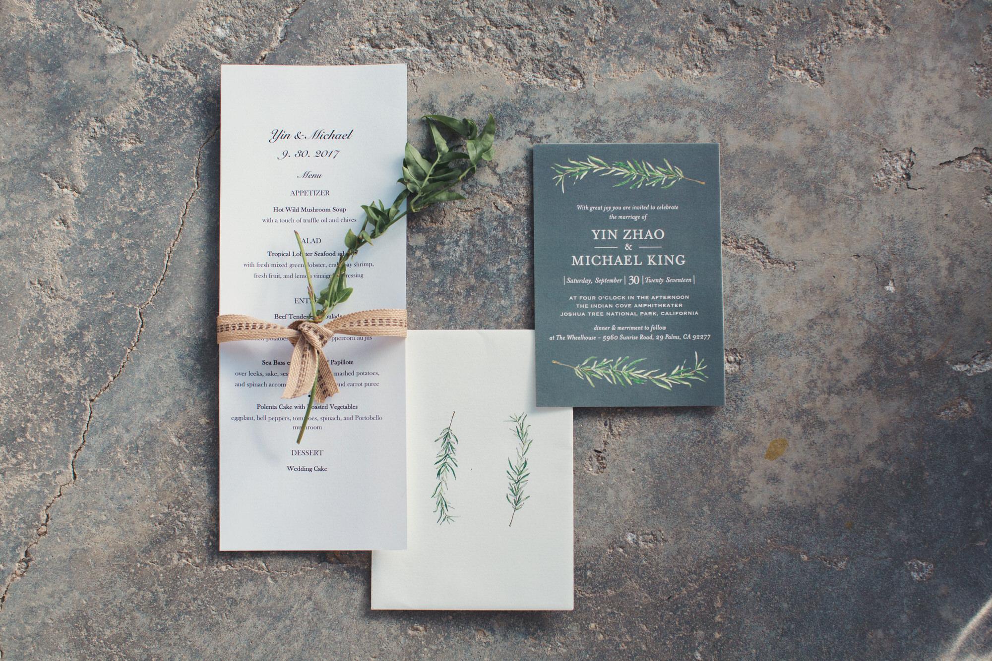 invitation wedding joshua tree