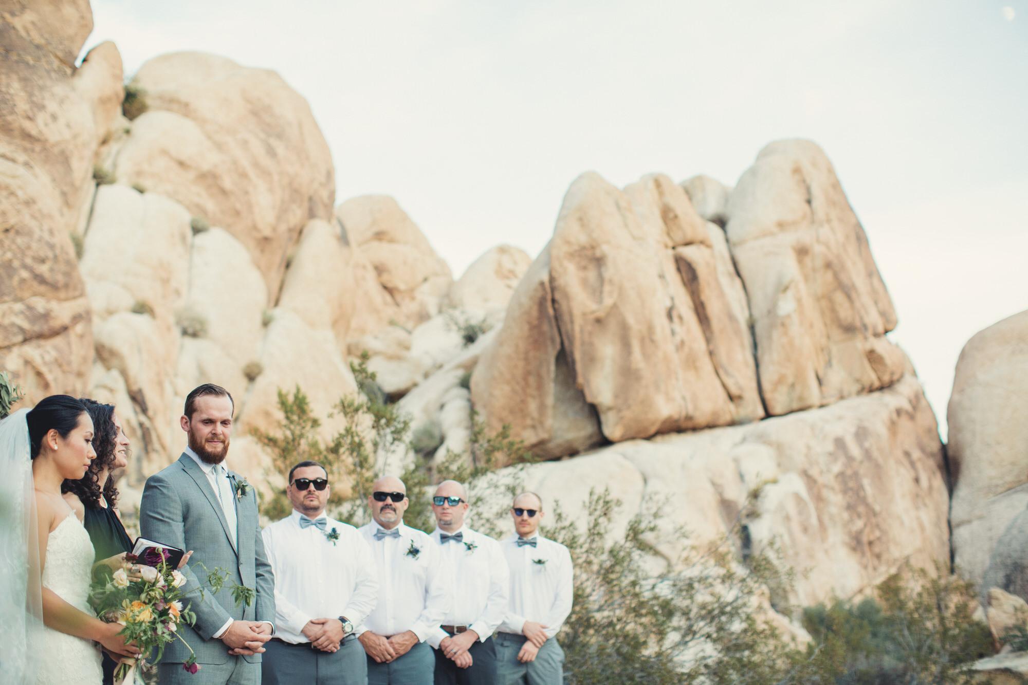 wedding in the desert