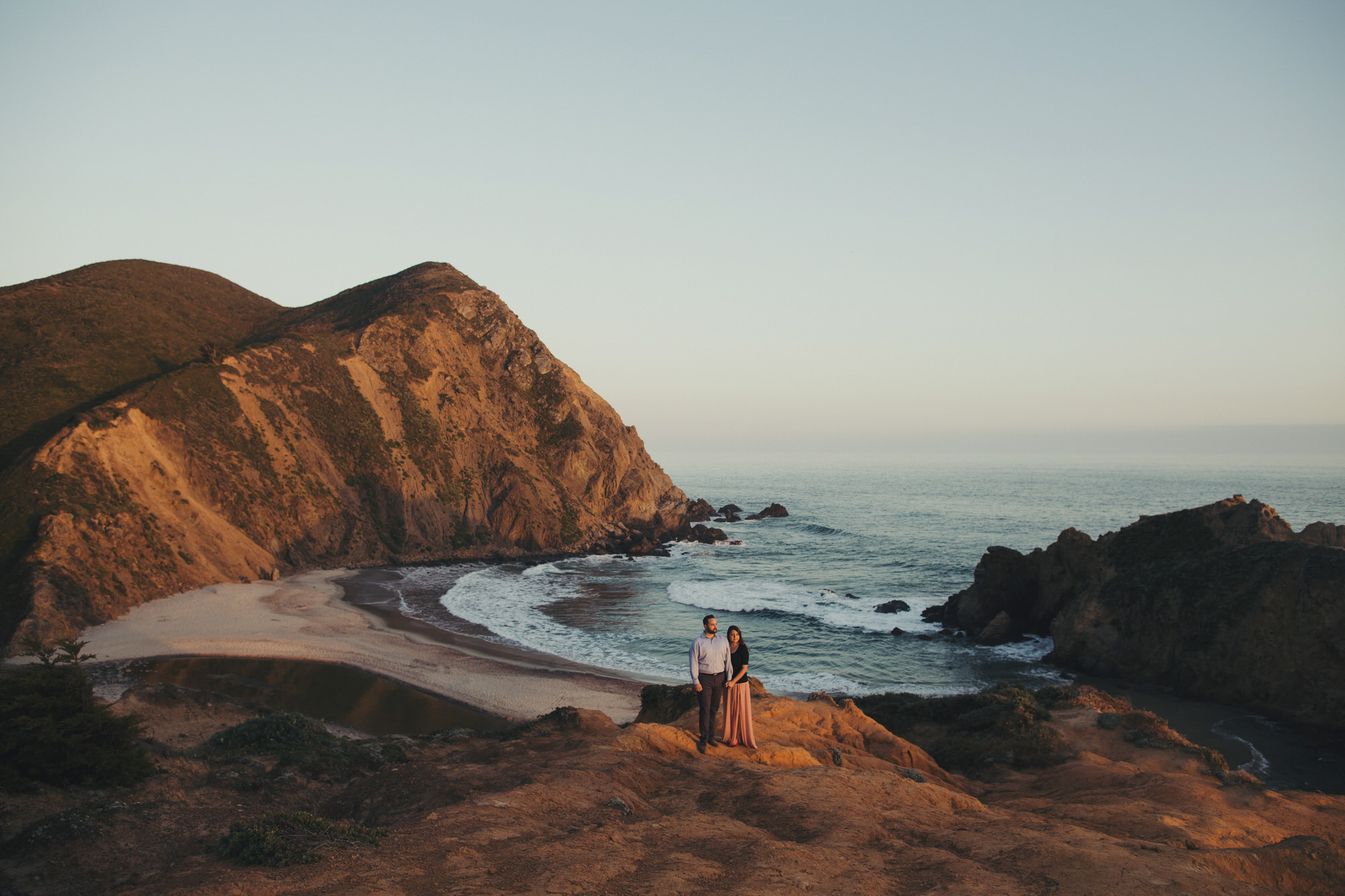 Big sur engagement pictures