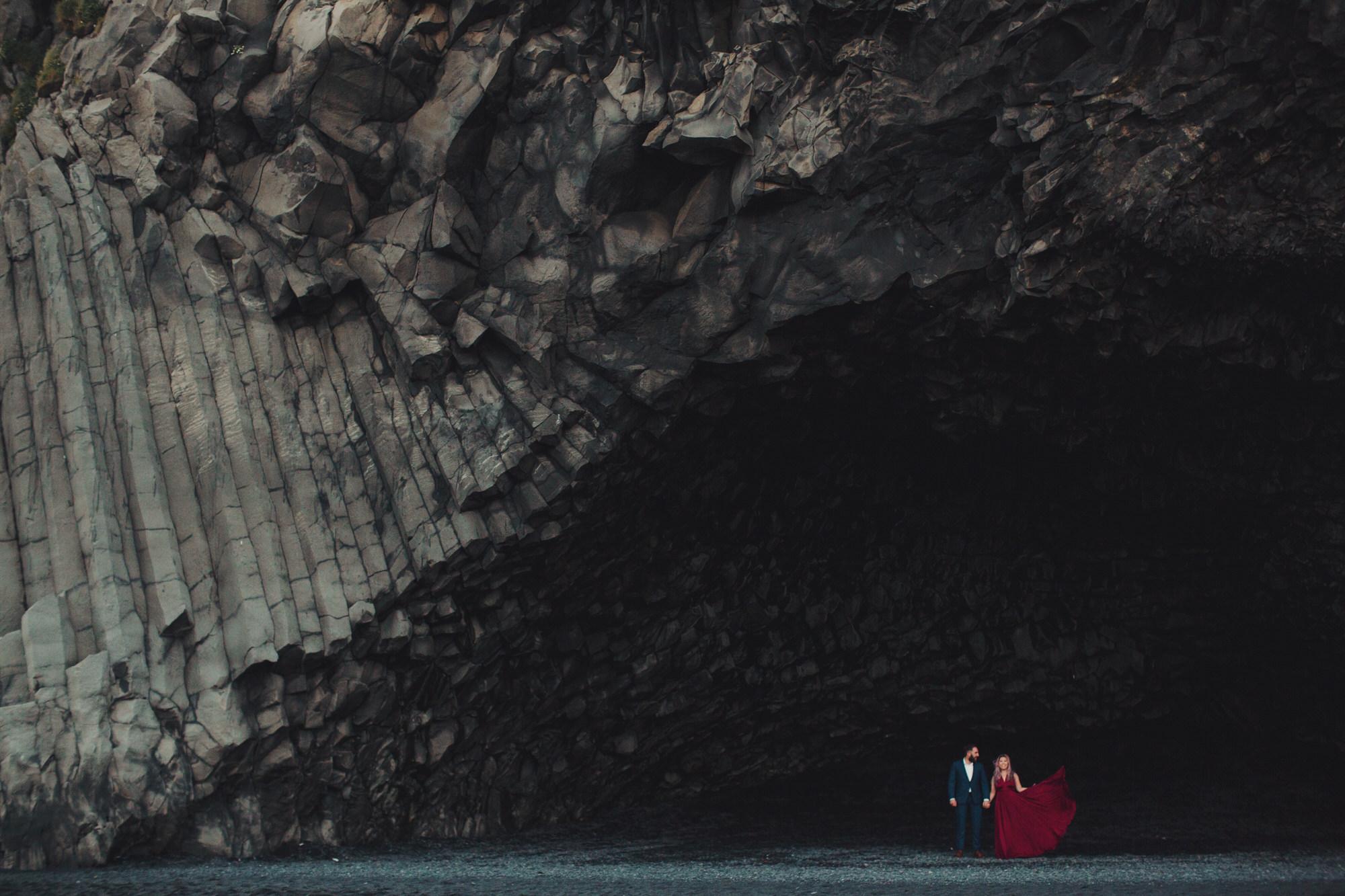 Reynisfjara elopement photographer iceland