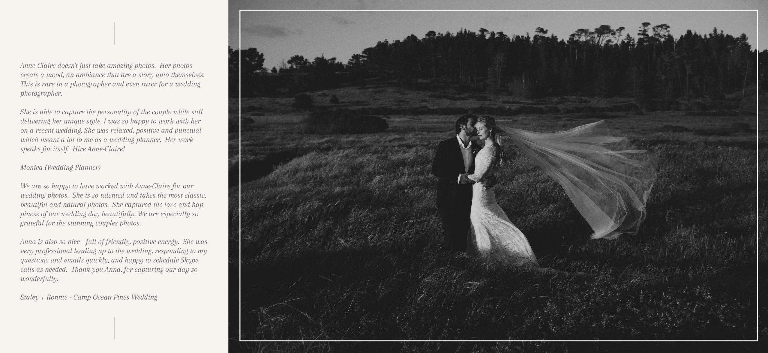 Camp Ocean Pines Wedding