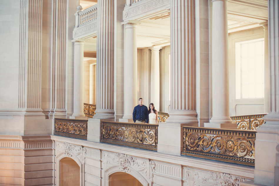 Elopement in San Francisco's city hall by Anne-Claire Brun
