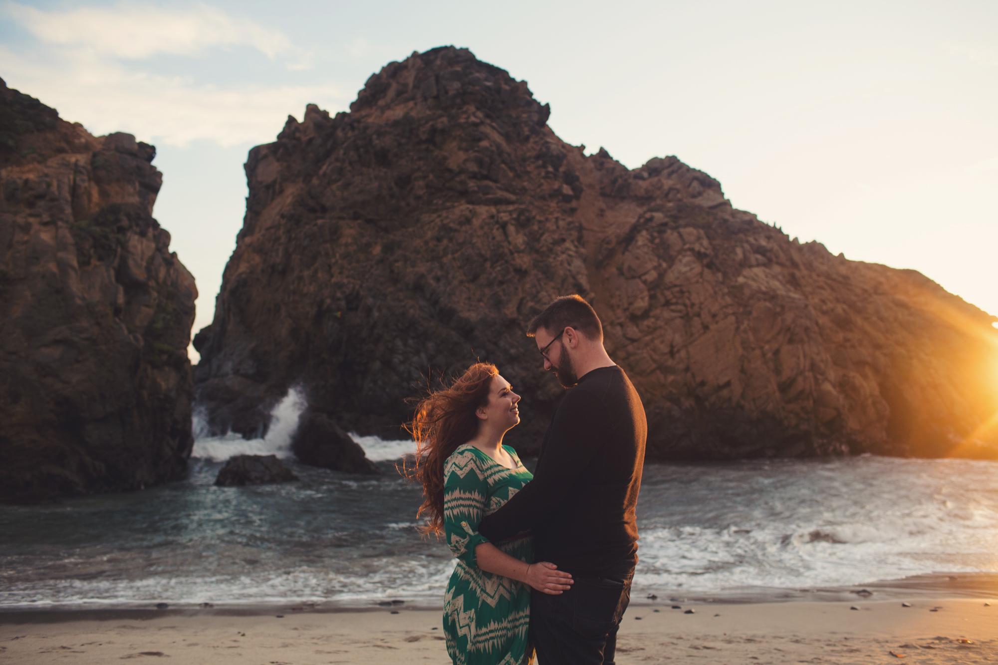 Engagement photos in Big Sur @Anne-Claire Brun 0015