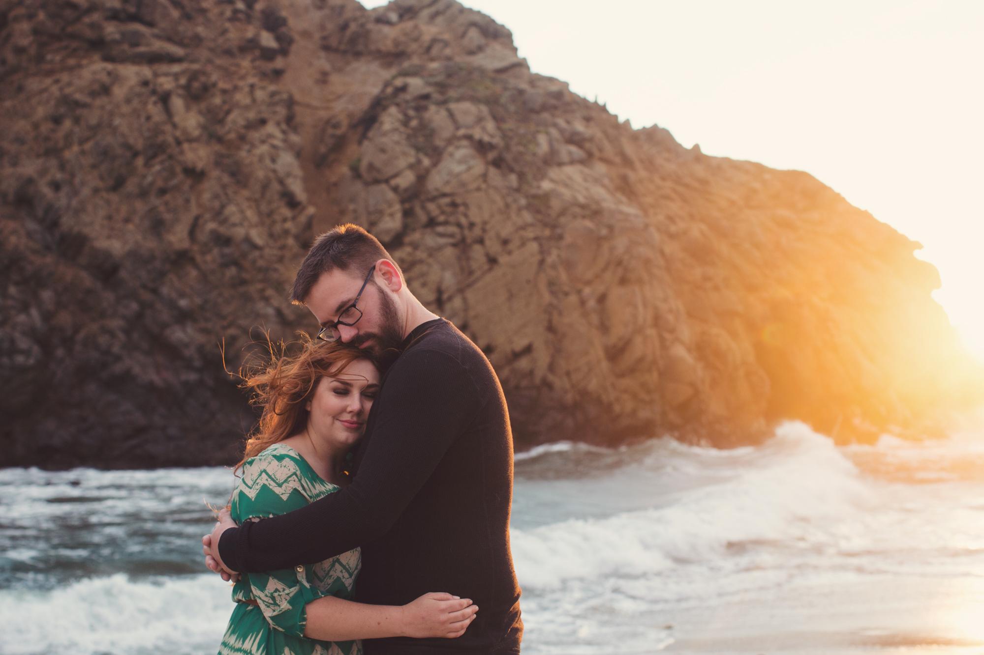 Engagement photos in Big Sur @Anne-Claire Brun 0019