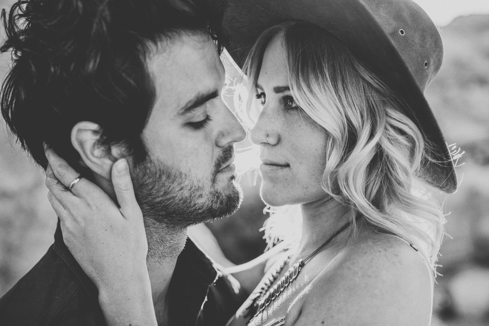Joshua Tree Couple Session bw@Anne-Claire Brun 03