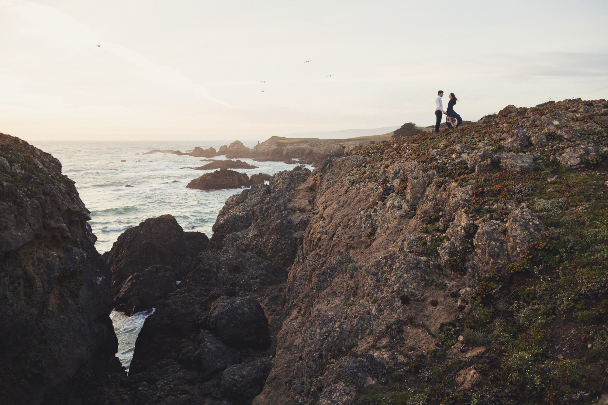 California coast engagement pictures