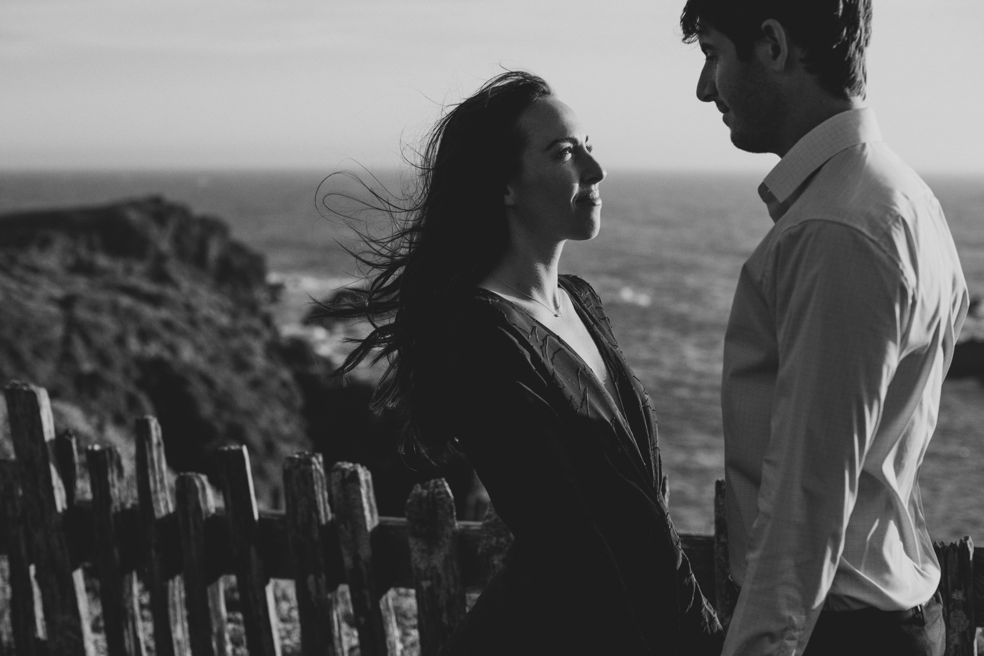 windy engagement pictures