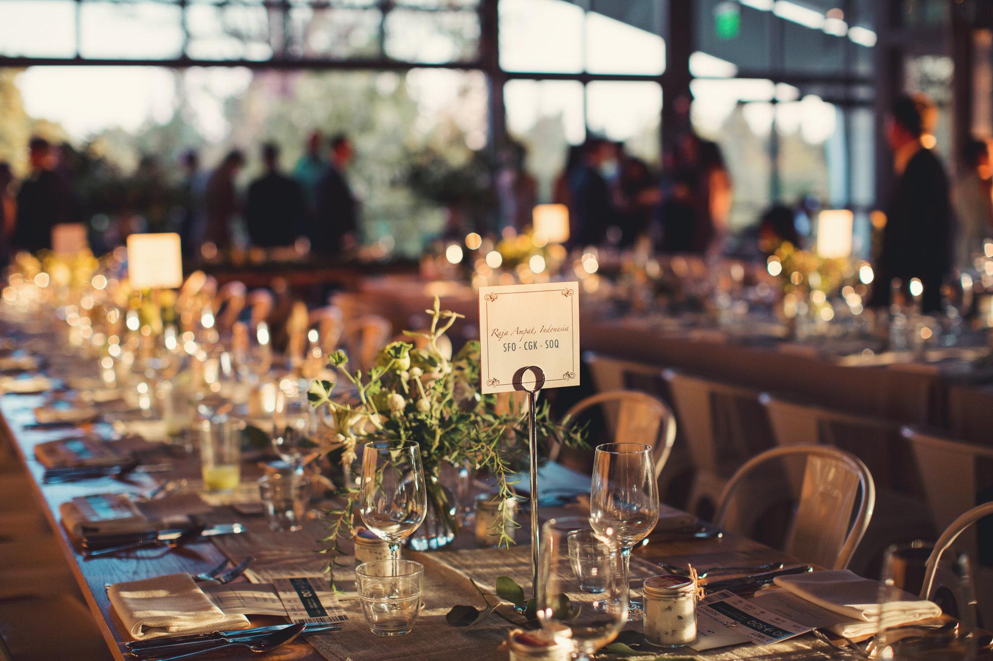 Tables wedding healsdburg