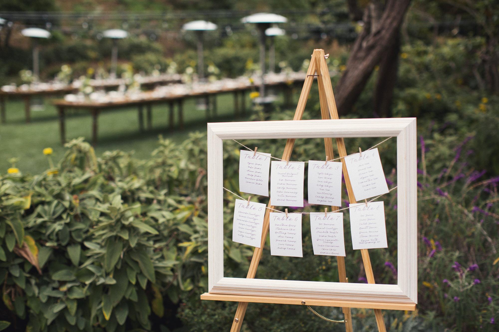 backyard wedding settings
