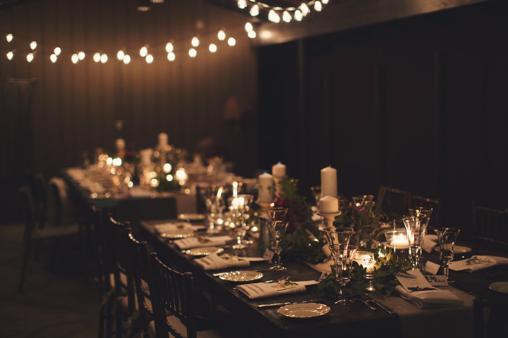 wedding reception in the desert