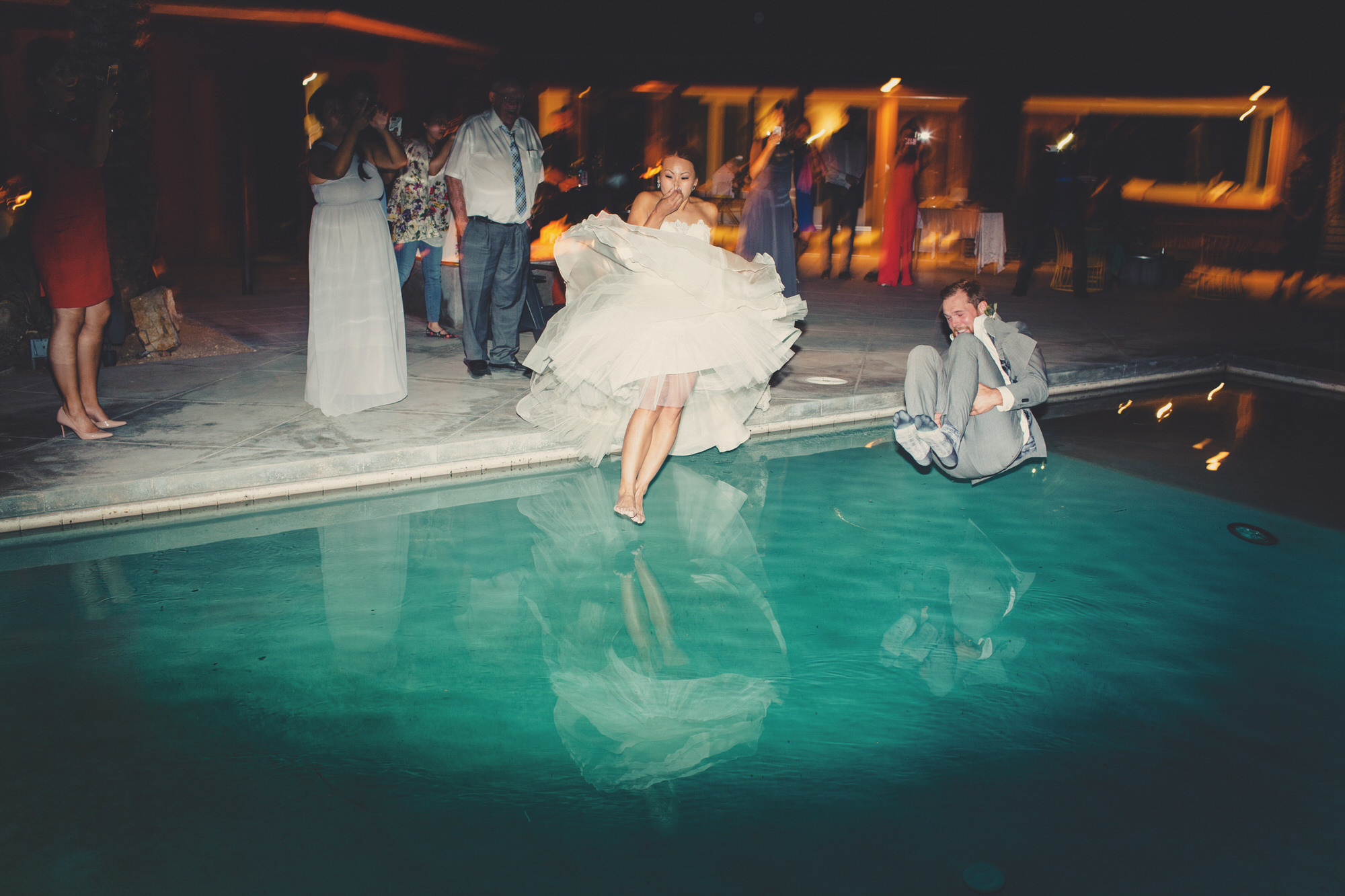 pool party wedding