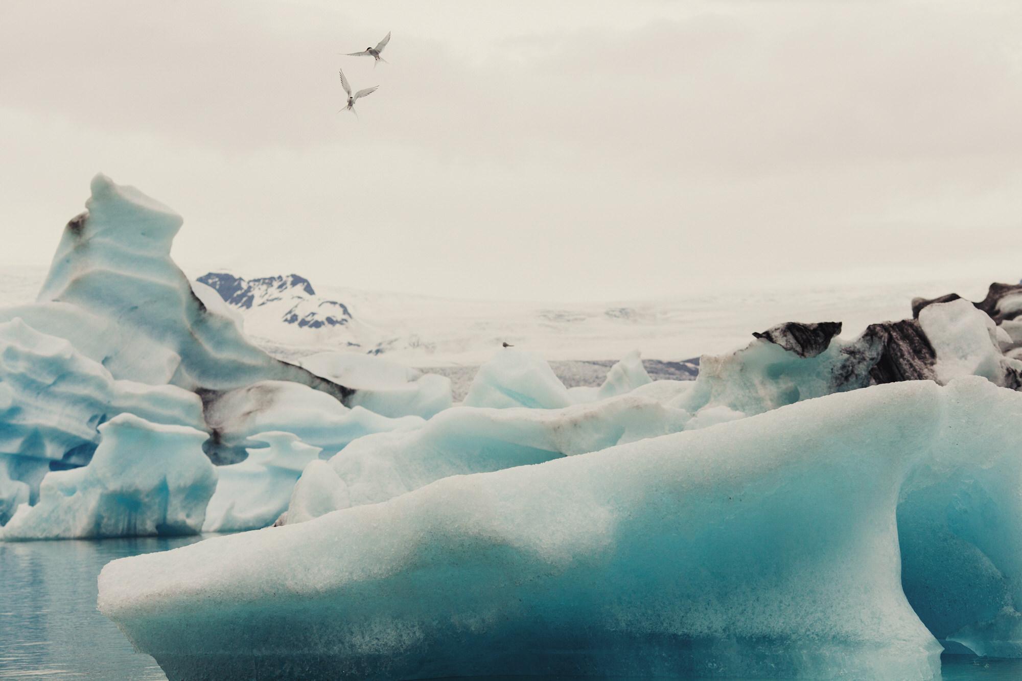 Jökulsárlón glacier lagoon ©Anne-Claire Brun