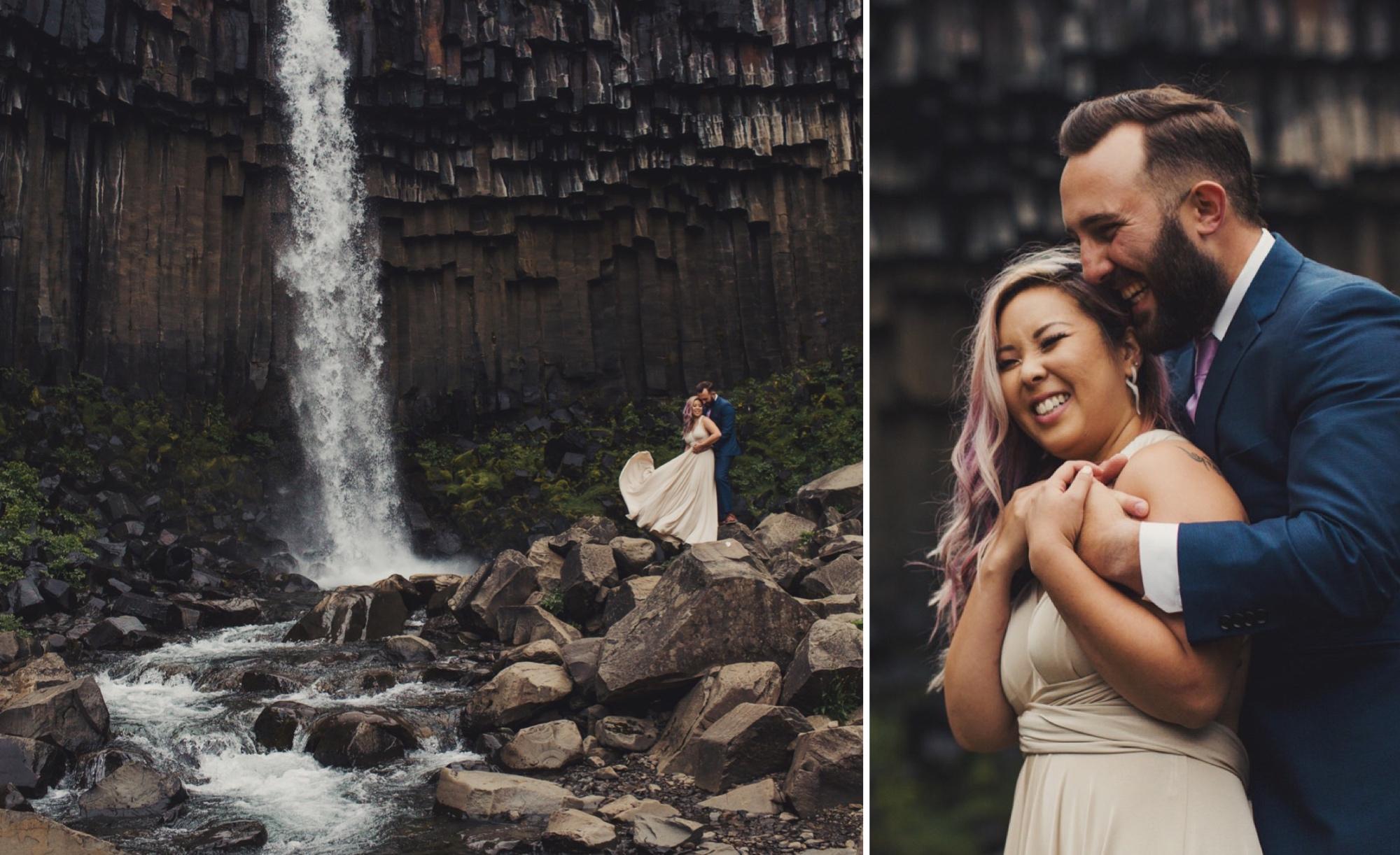 Svartifoss iceland wedding elopement photographer