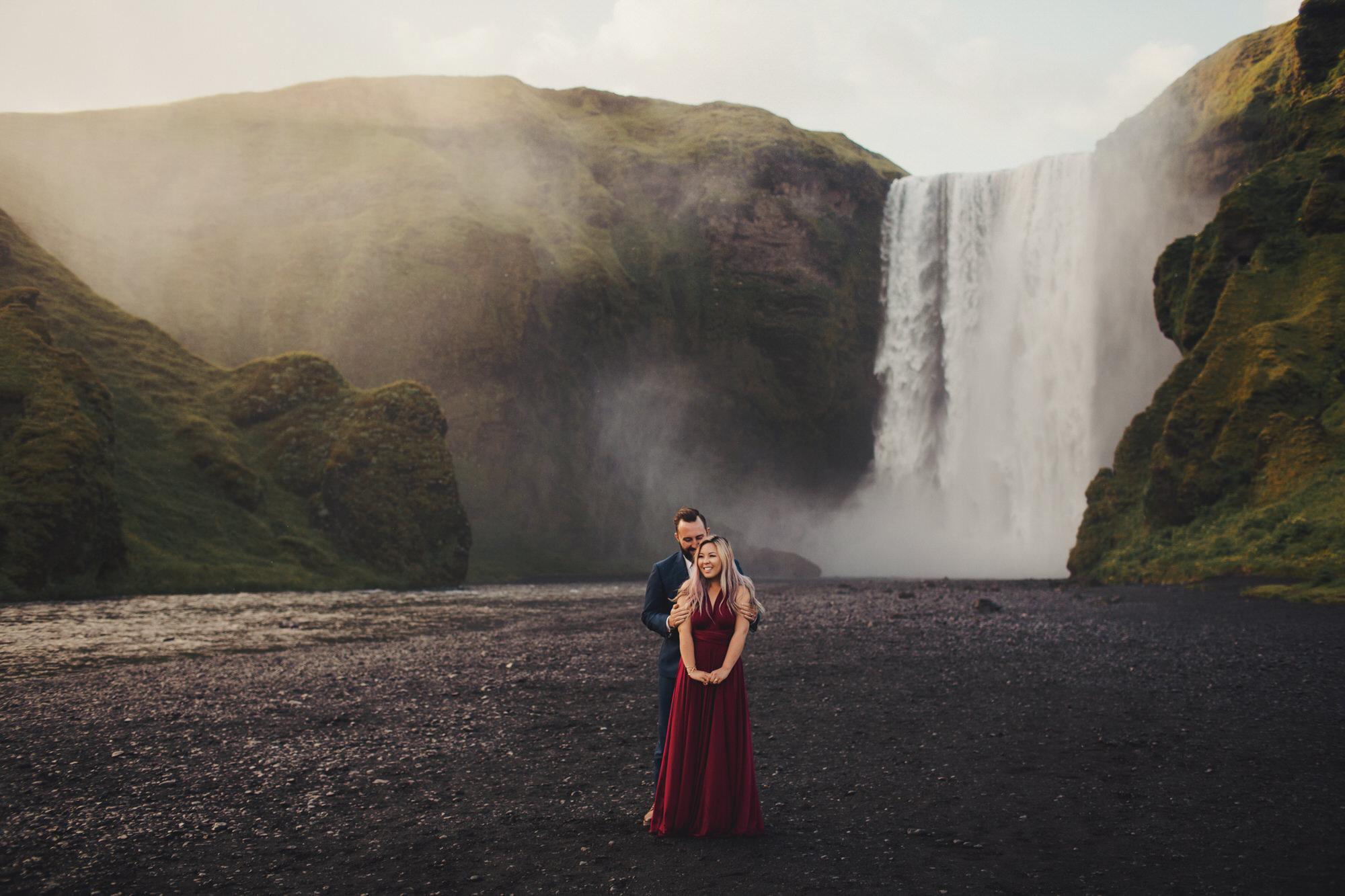 Skógafoss Wedding photographer ©Anne-Claire Brun