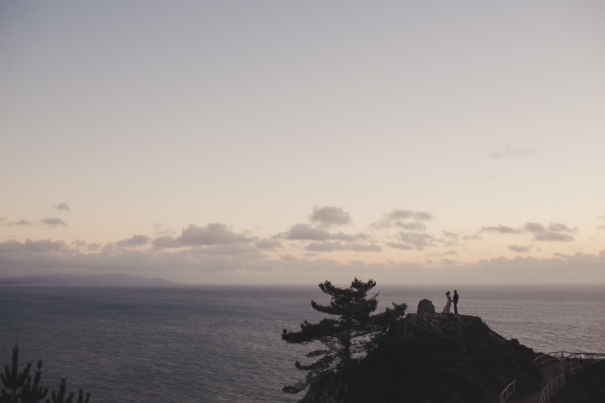 Muir Woods Engagement - Muir Beach Overlook Couple Session