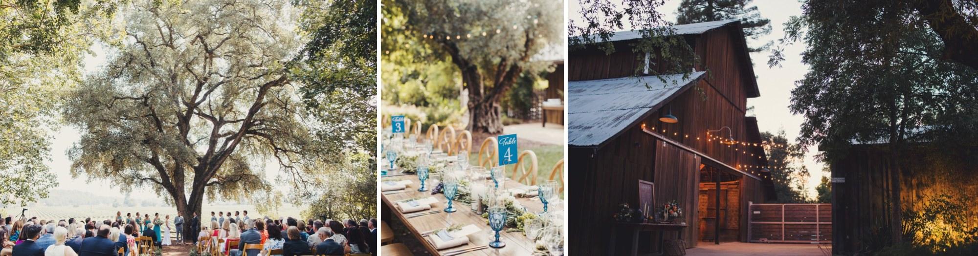 Barn wedding venue vineyard