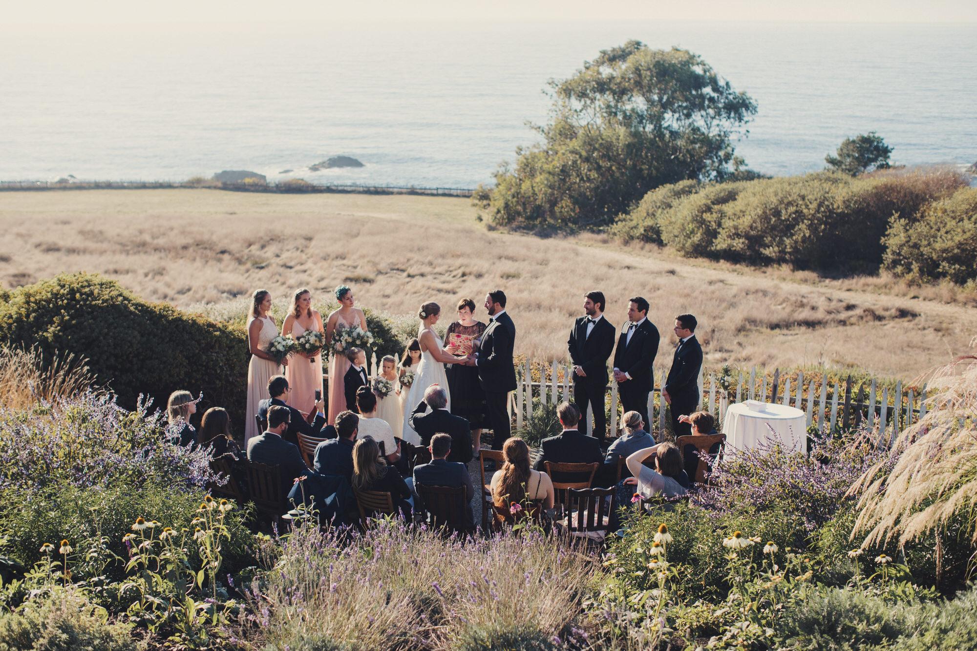 wedding ceremony over the pacific ocean